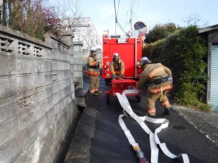 【写真】一般街区火災想定訓練の様子2