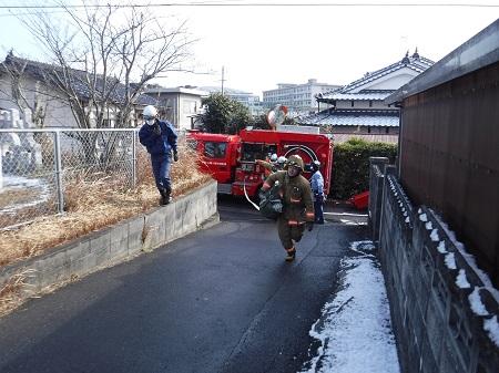 【写真】一般街区火災想定訓練の様子3