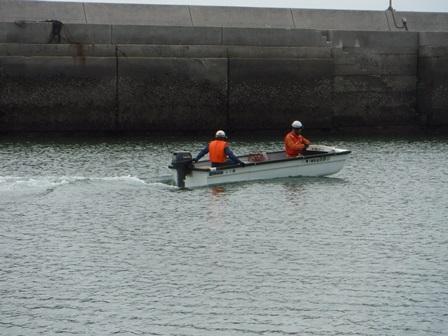 舟艇訓練の様子