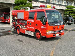 【写真】山陽消防署のポンプ車