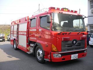 【写真】山陽消防署の大型化学消防ポンプ自動車