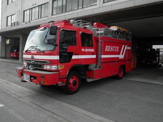【写真】宇部中央消防署の救助工作車