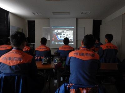 【写真】山口消防航空隊概要説明の様子