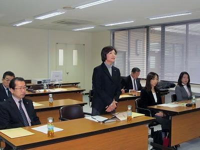 【写真】名張市議会総務企画委員長あいさつ