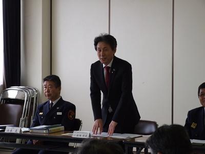 【写真】宇部・山陽小野田消防組合議会の議長があいさつしている様子