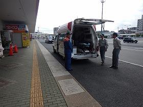 【写真】救急車の適正利用啓発活動及び救急車展示の様子