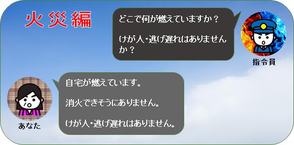 【画像】119番通報の流れ(火災編)