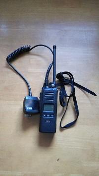 携帯無線機の表面