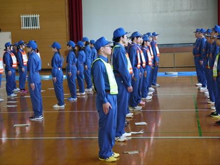 訓練礼式の様子